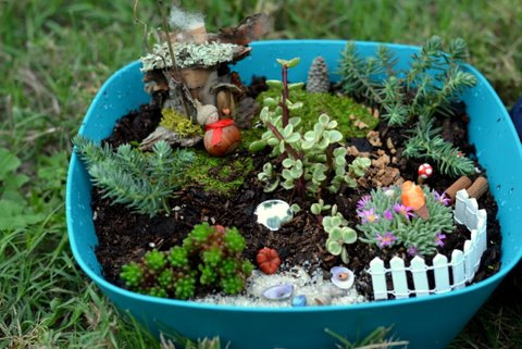 Backyard Patch Herbal Blog Celebrate in Miniature Make a Fairy Garden