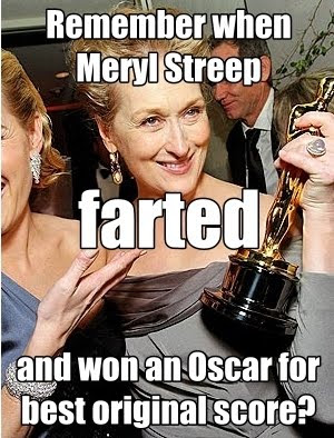 meryl streep, oscar, academy award, iron lady, thatcher, undeserved, nomination, fart, overrated, ebert, Frank Caliendo, narcissistic, my week with marylin, michelle williams