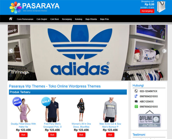 Download Template Pasaraya Theme