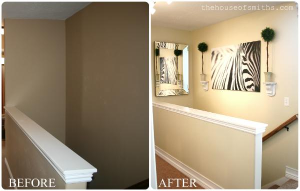 Our home tour hallway and main bathroom for Small hallway bathroom ideas