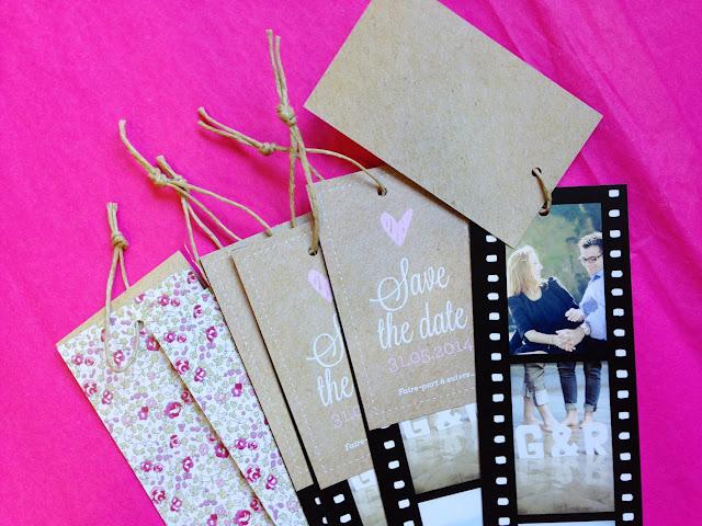 Save the date photomaton, liberty, pink