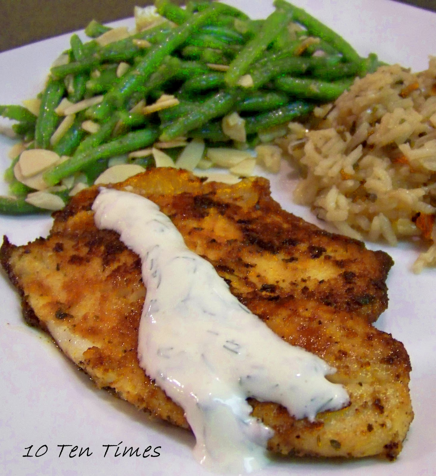 10 ten times seasoned tilapia with dill sauce for Fish seasoning for tilapia