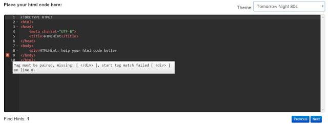 html-hint-1-線上檢查 HTML Javascript CSS 語法工具 自動偵測錯誤