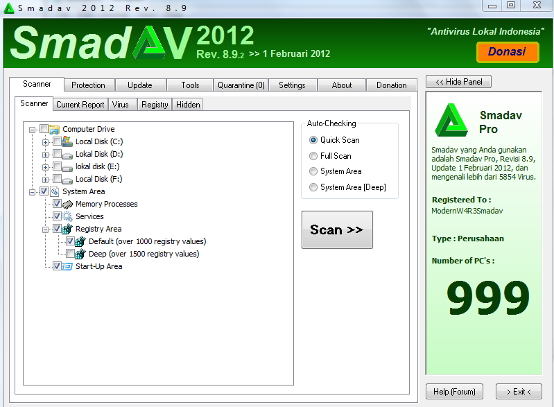 Smadav 2012 Rev 8,9 Pro Full Version with Serial Number