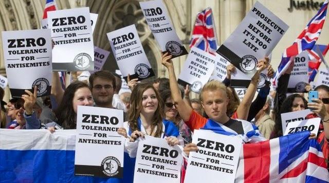 """Judíos británicos se manifiestan por una """"tolerancia cero al antisemitismo"""""""