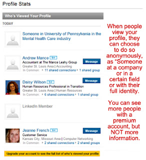 LinkedIn profile stats, who's viewed your profile, LinkedIn profile visitors,