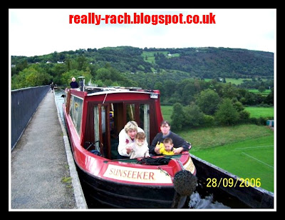 Really Rachel Crossing the Pontcysyllte Aqueduct on the Llangollen Canal
