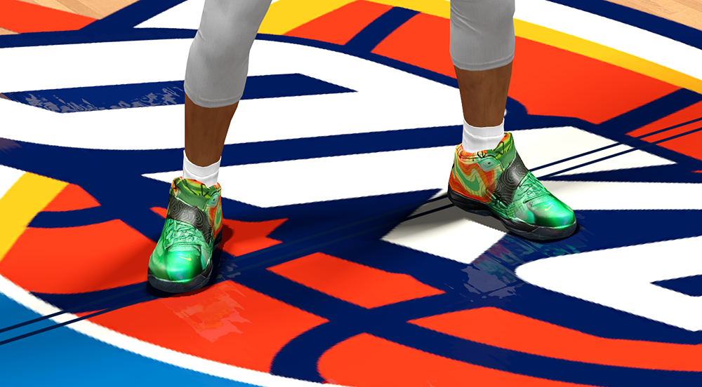 Nike KD 4 Weatherman in NBA 2K14