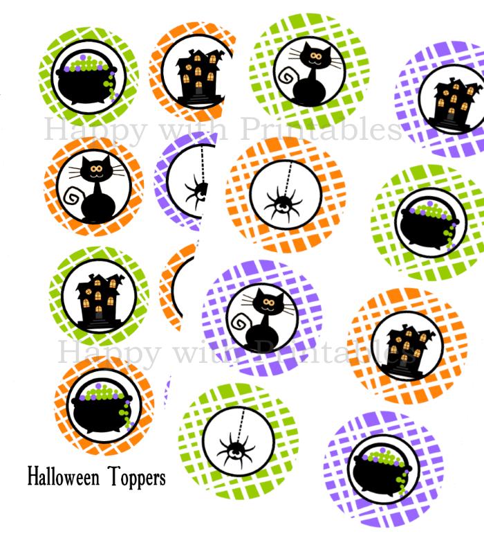 Halloween toppers, halloween, halloween party, happy halloween, halloween 2 inch