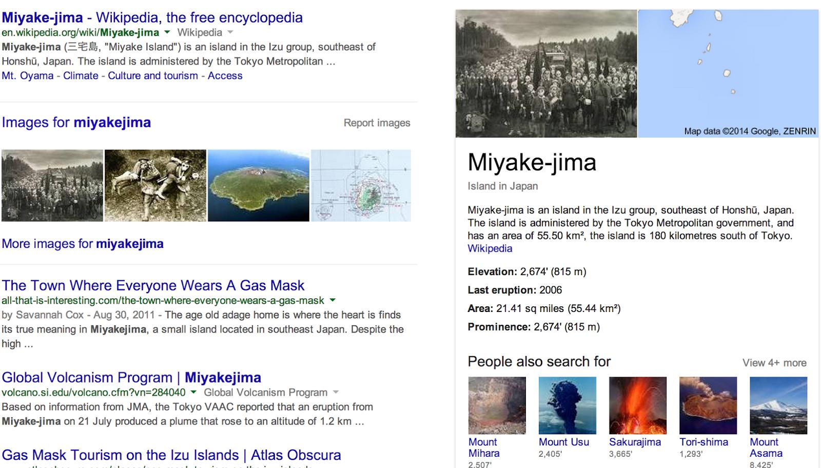 Miyakejima aka Gas Mask Island Mike Byrnes in Japan
