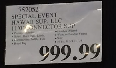 Special Event Only Hawaii SUPS Connector Stand Up Paddleboard at Costco