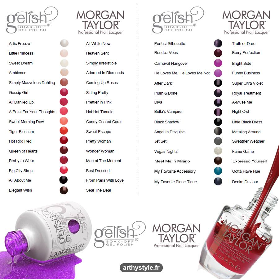 Nail art morgan taylor color chart morgan taylor color chart geenschuldenfo Image collections
