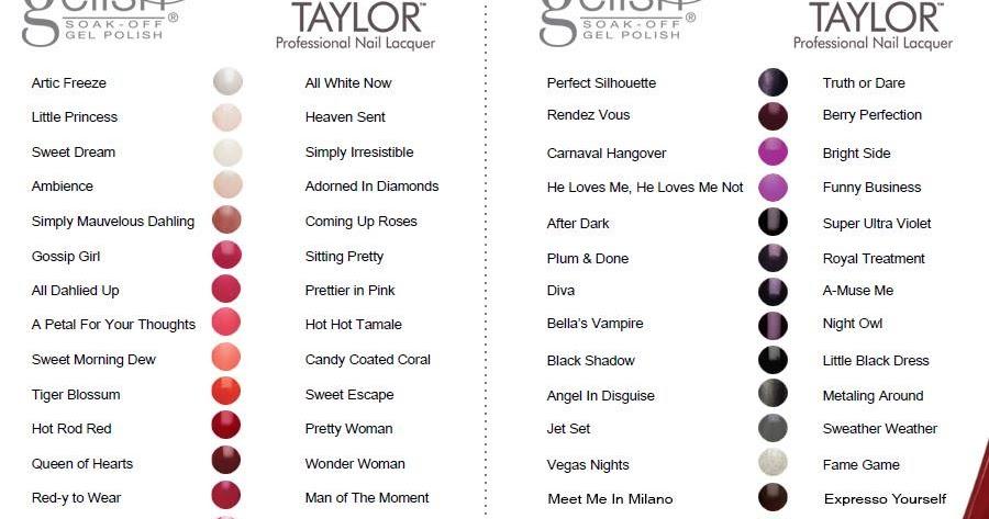 Nail Art Morgan Taylor Color Chart