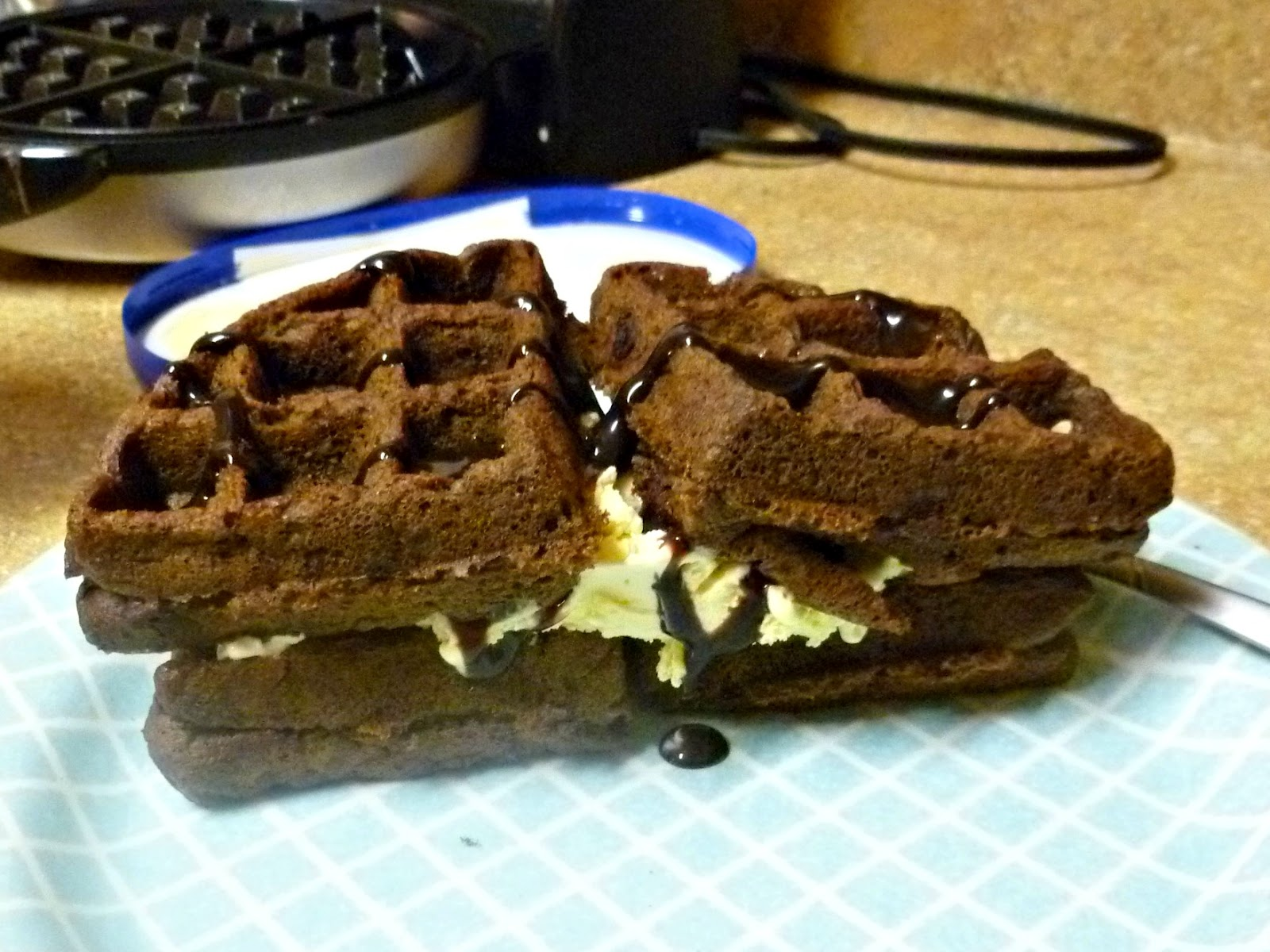 Loving Life: waffle ice cream sandwiches