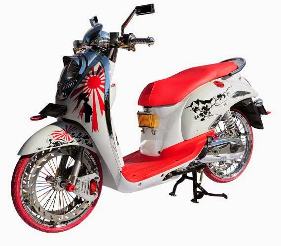 Modifikasi Motor Honda Scoopy 2014