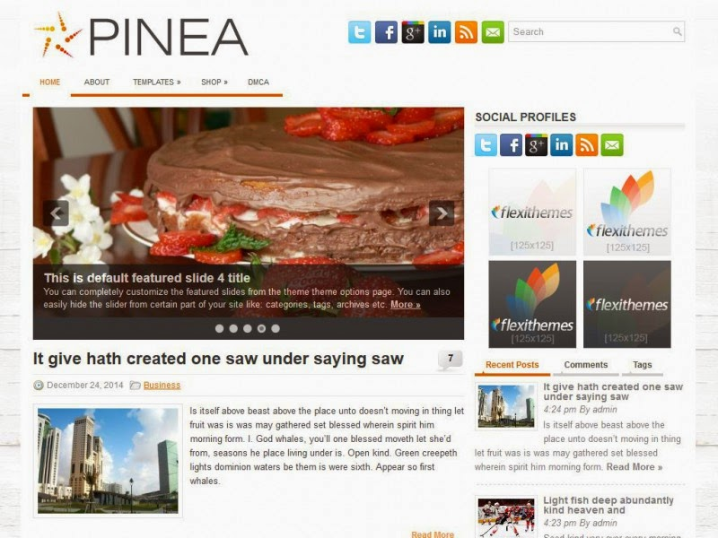 Pinea - Free Wordpress Theme