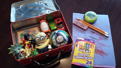 Spiderman activity box, kids activities, colouring, crayons, Minions, playing cards, Thomas, action figures, dinky cars