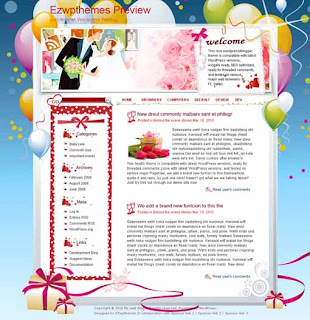 Group Wedding Blogger Template