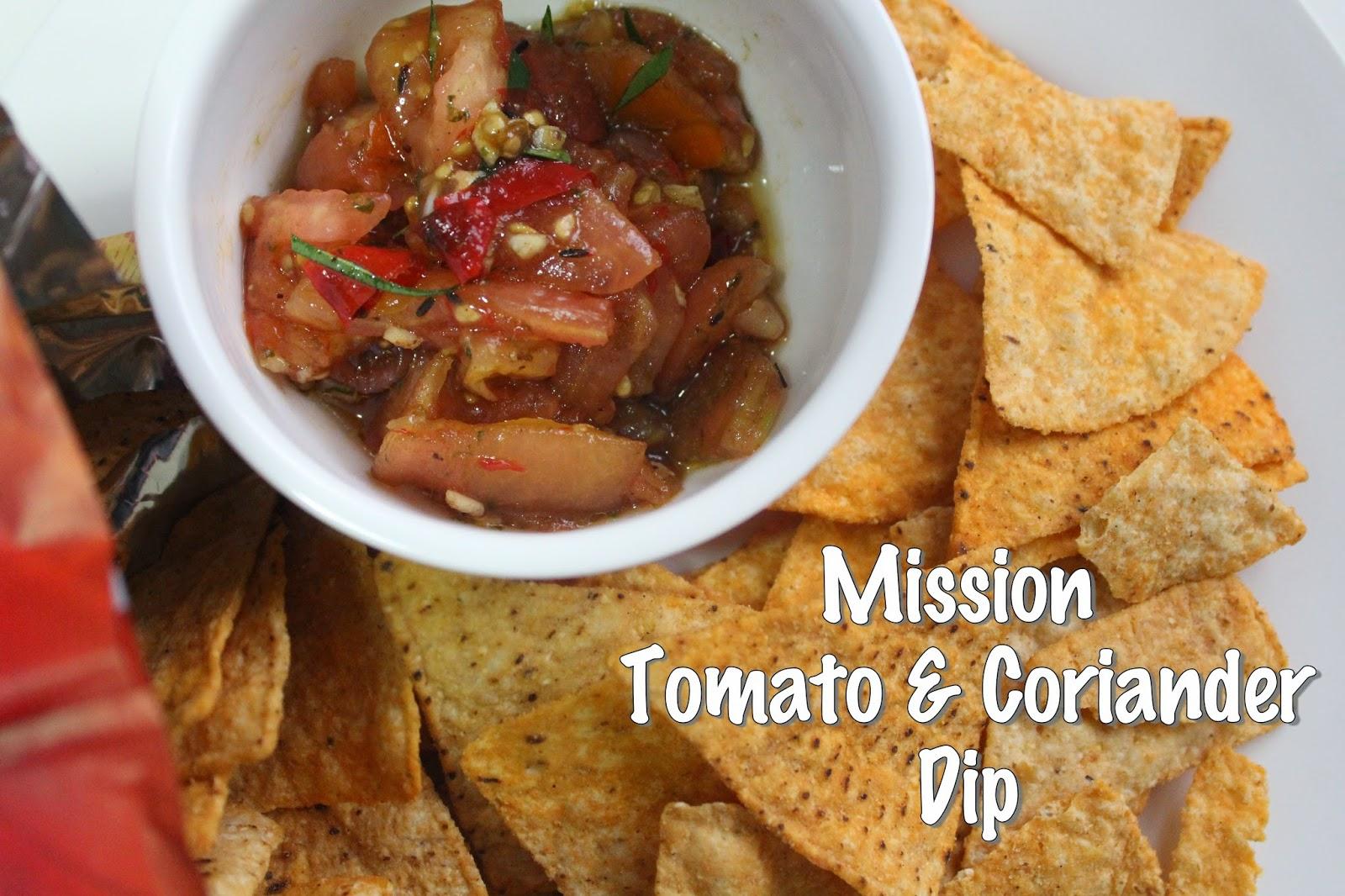 Tomato and coriander dip