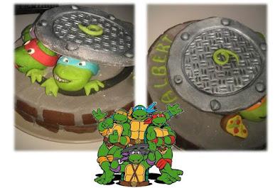 Detalles del pastel de las Tortugas Ninja