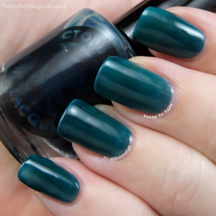 Swatch and review of Octopus Party Nail Lacquer Ink or Swim.