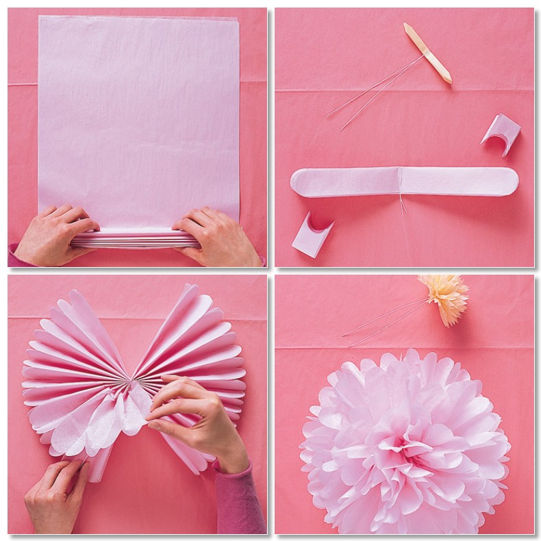 how to make large pom poms with tissue paper It's easy to make tissue paper pom-poms in different sizes i'm sharing the easy how-to on making the tissue paper pom-poms as well as the size tissue paper and.