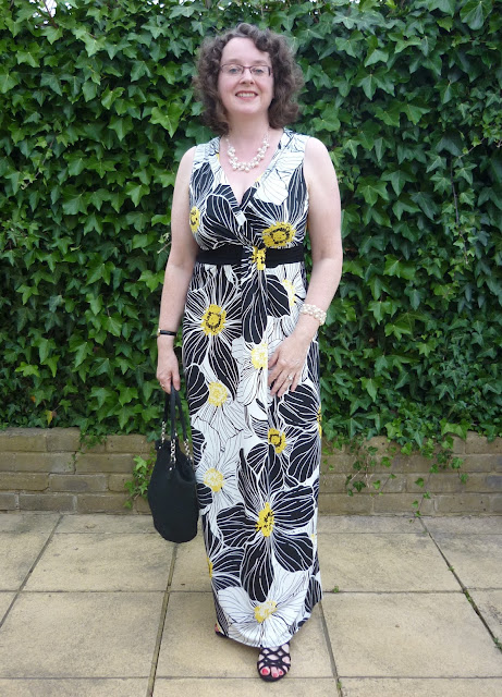 Front view of Floral Maxi Dress