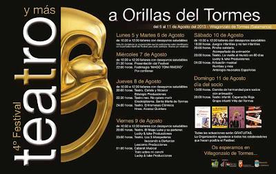 Toni Rivero inaugura la IV edición del festival de teatro a Orilla del Tormes