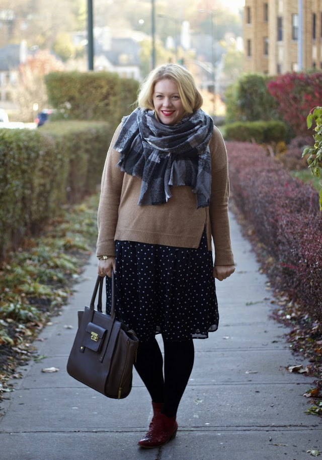 JCrew zipper sweater with skirt
