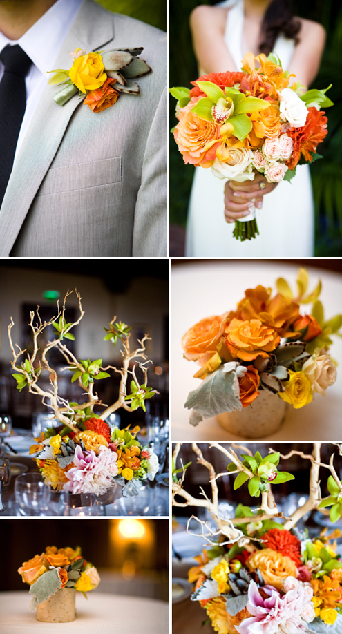 Wedding Inspiration Gallery # 6: Grass, lilac, fuschia and orange