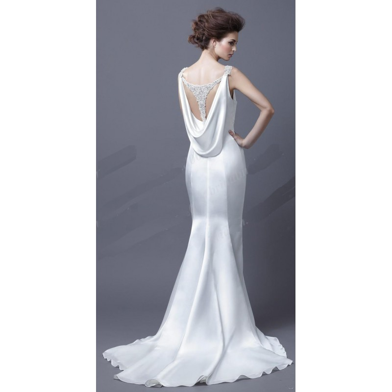 Cowl back wedding dress gown and dress gallery for Cowl back wedding dress