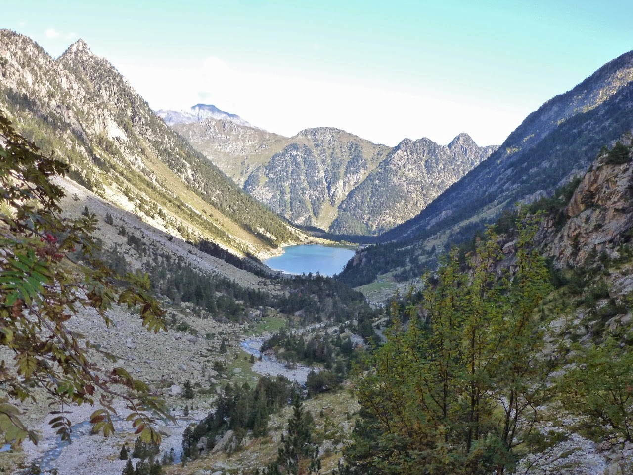 View down valley to the Lac de Gaube