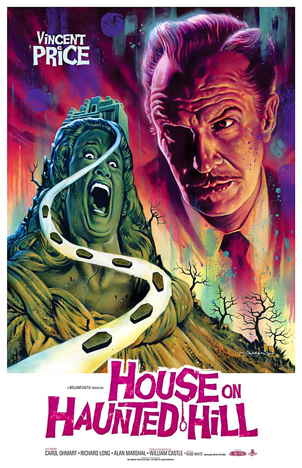 House On Haunted Hill 1957 Poster Starring Vincent Price