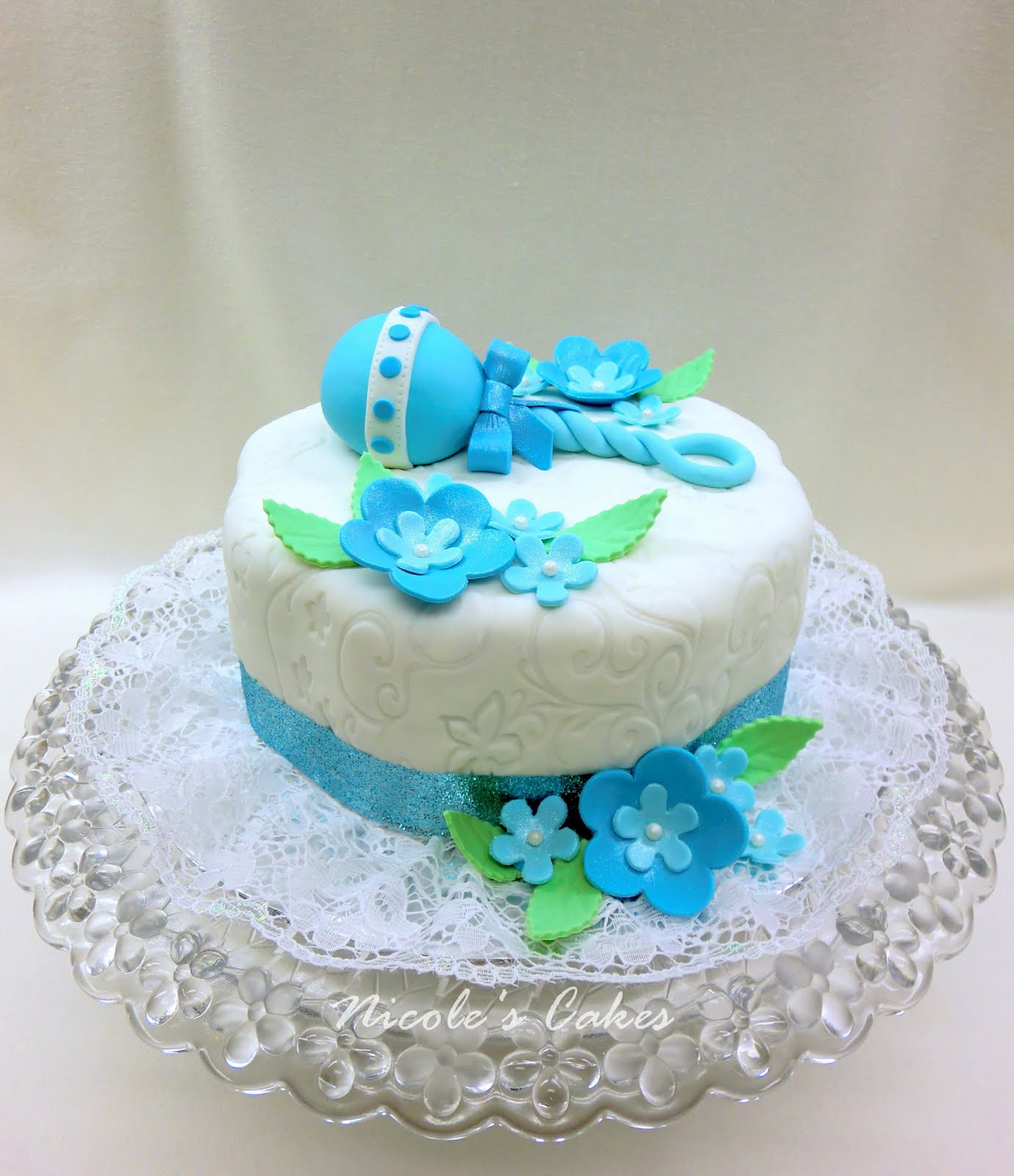 confections cakes creations beautiful blue baby shower cake