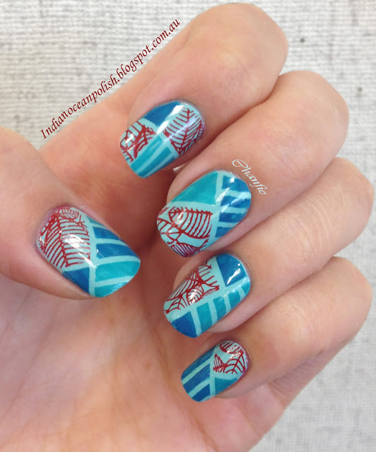 Striping tape and stamping mani_Bundle monster_BM19