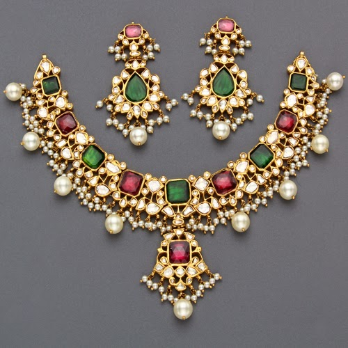 Mangatrai S Regal Kundan Set Jewellery Designs
