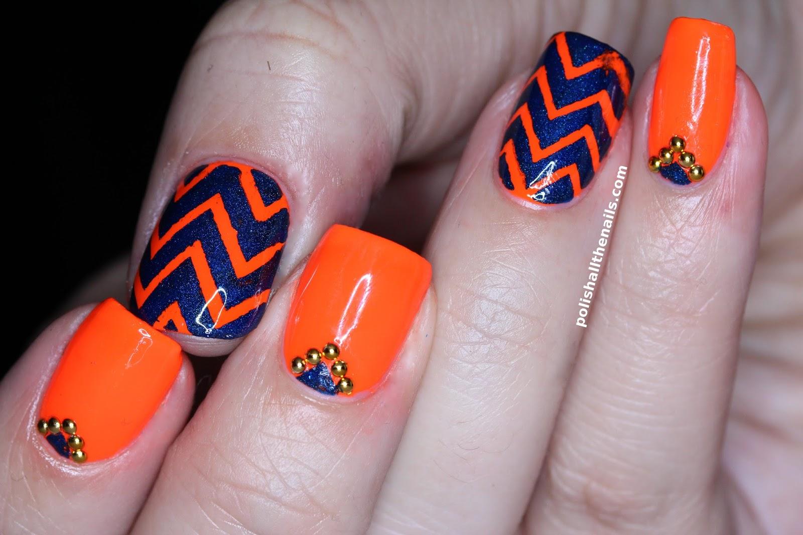Nails - Tagged with: chevron nails, zig zag chevron nails, zig zag