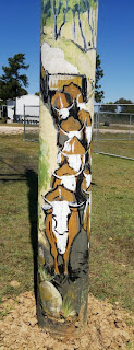 Painted poles at St Lawrence