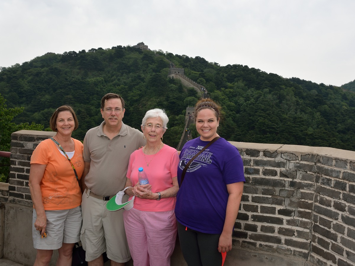 Nancy Savage, Tom Savage, Margot Savage and Melanie Wall at Mutianyu Great Wall