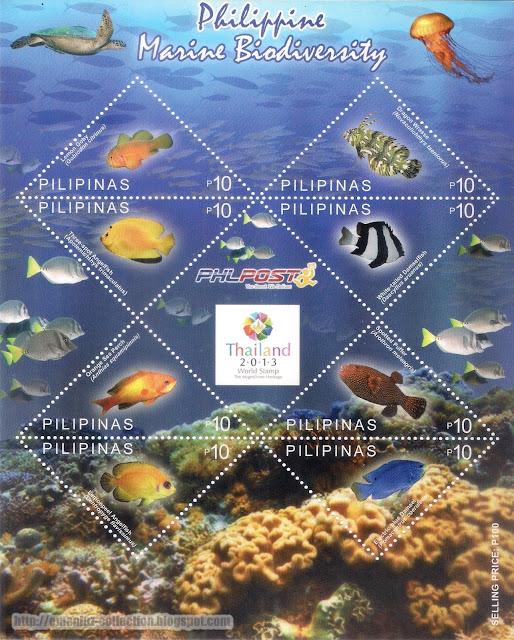 Philippine Marine Biodiversity Stamp; Thailand 2013 World Stamp Exhibition