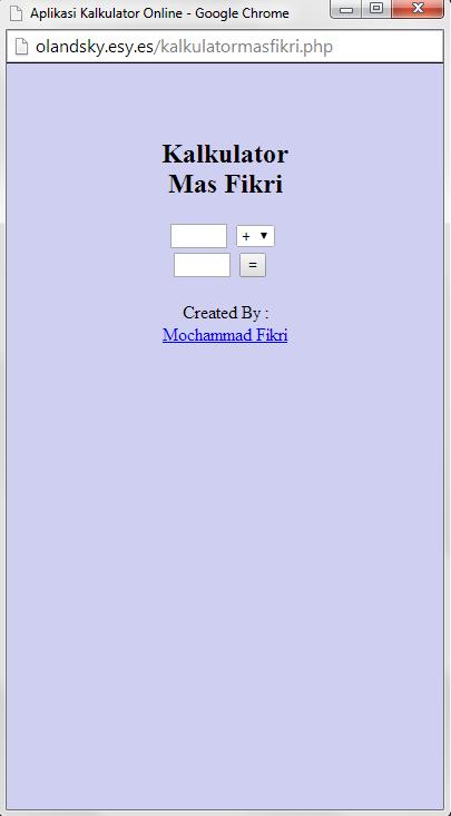 Membuat Kalkulator Online Menggunakan HTML
