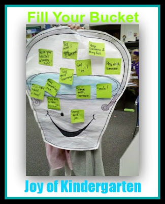 photo of: Joy of Kindergarten: Fill your Bucket (Kindness RoundUP via RainbowsWithinReach)