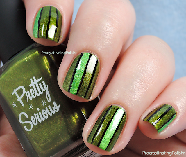 Striped Nail Art | Pretty Serious - Blood of Knossos