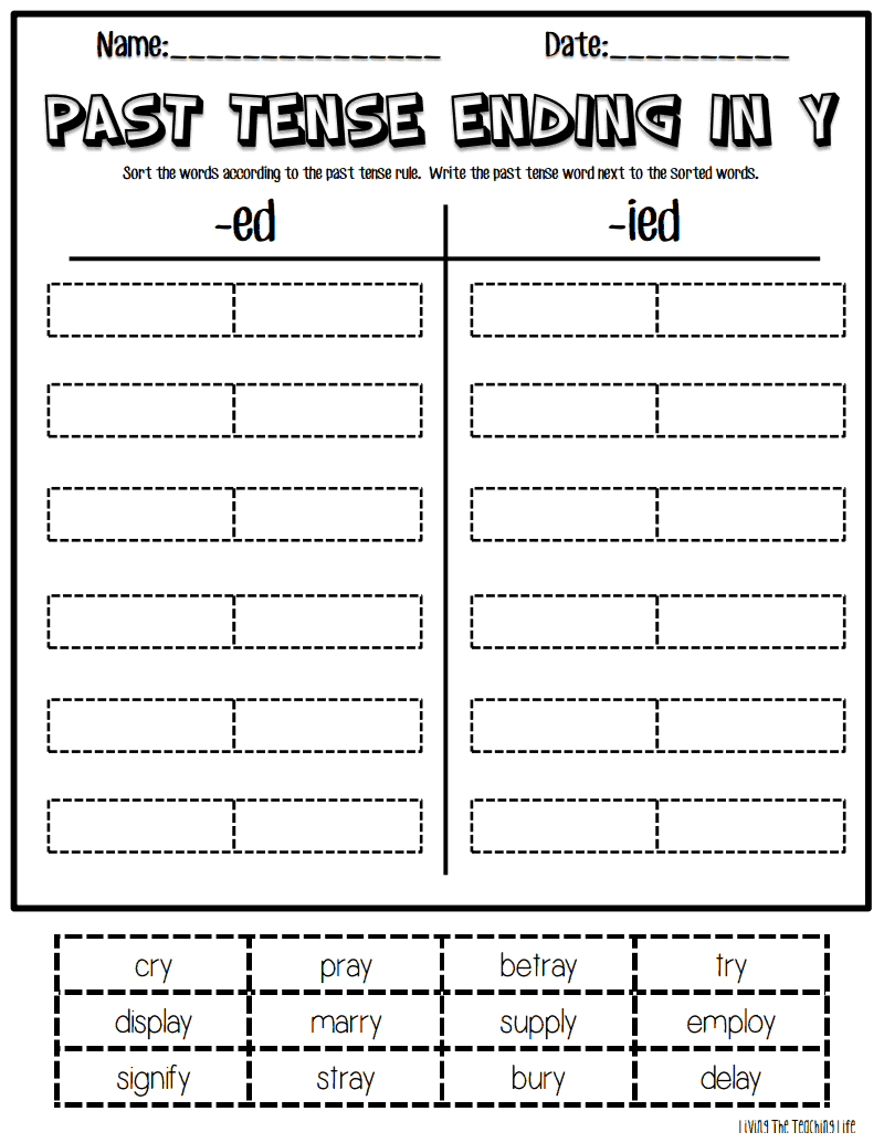 http://www.teacherspayteachers.com/Product/Word-Work-with-Suffixes-Verbs-Ending-in-Y-1105452