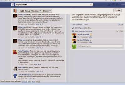 Laman Facebook Najib Razak Diserang Ekoran Kenaikan Kos Sara Hidup