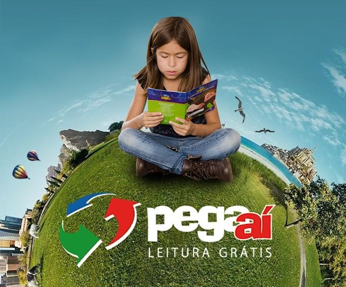 """Projeto """"Pegaí – Leitura Grátis a Editora Illuminare apoia 100%."""