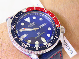 SEIKO DIVER 7548 - 150m DESERT STORM - PEPSI BEZEL - MODIF HANDS AND DOME BLUE SAPPHIRE GLASS