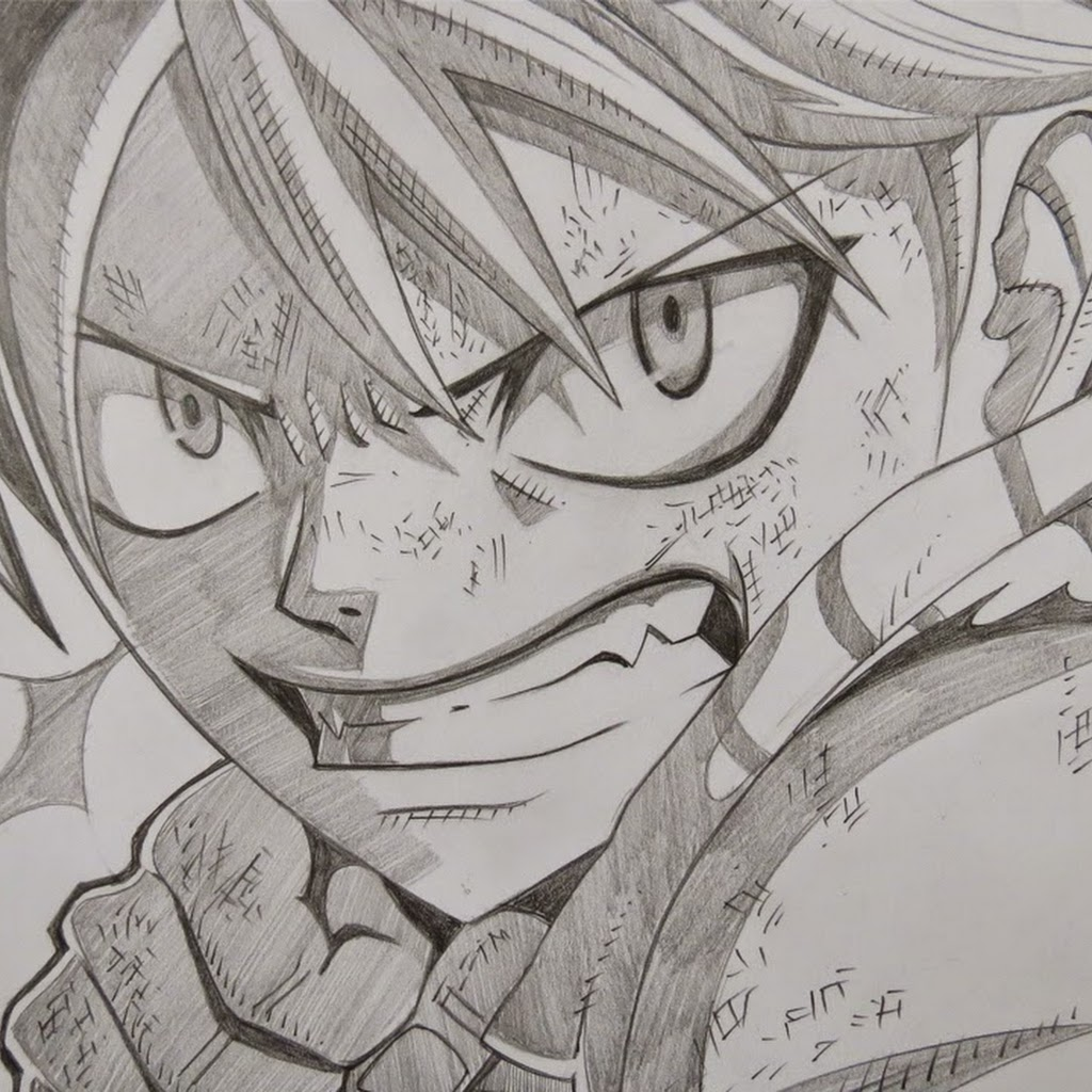 Fairy Tail Anime Drawings In Pencil