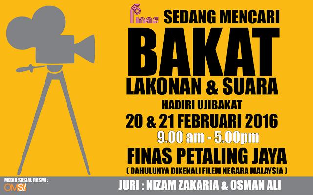 Ujibakat Lakonan & Suara Oleh FINAS