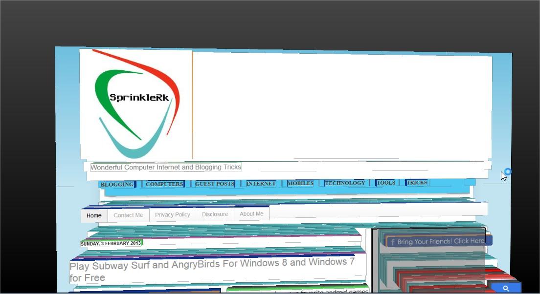 Webpage-in-3D-format